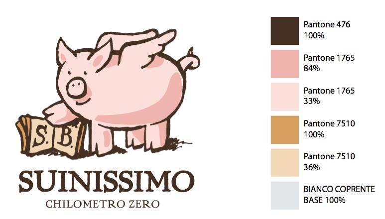Logotipo Suinissimo Salumificio Busin (maialino)